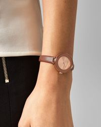 Ted Baker Leather Strap Watch - Multicolor
