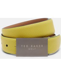 Ted Baker - Rubberised Leather Belt - Lyst