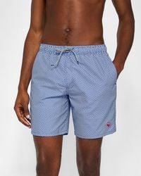 Ted Baker - Geo Print Swim Shorts - Lyst