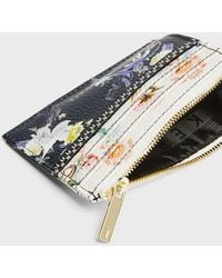 Ted Baker Decadence Zipped Card Holder - Natural