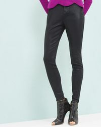 05ac505e31211e Ted Baker - Wax Coated Ankle Zip Skinny Jeans - Lyst