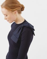 Ted Baker | Bow Detail Ribbed Jumper | Lyst