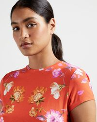 Ted Baker Camiseta Ajustada Estampado Rhubarb - Naranja