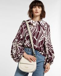 Ted Baker Leather Round Cross Body Bag - White