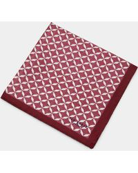 Ted Baker - Geo Print Silk Pocket Square - Lyst
