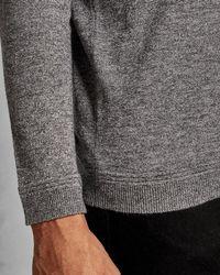 Ted Baker V Neck Wool Sweater - Gray