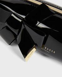 Ted Baker Knot Bow Brush Case - Black