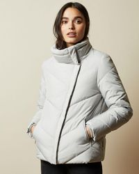 Ted Baker Wrap Padded Jacket - Gray