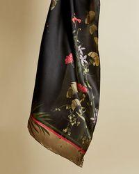 Ted Baker Highland Long Silk Scarf - Negro