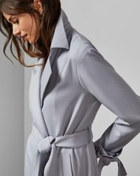 Ted Baker Belted Trench Coat - Grey