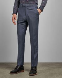 Ted Baker Sterling Wool Suit Trousers - Blue