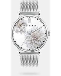 Ted Baker - Clove Mesh Strap Watch - Lyst