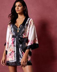 Ted Baker - Painted Posie Kimono Robe - Lyst