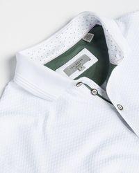Ted Baker Textured Cotton Polo - White