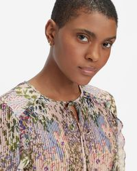 Ted Baker Ditsy Woven Top - Pink