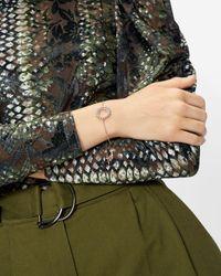 Ted Baker Aurora Crystal Hoop Bracelet - Métallisé