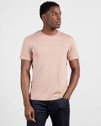 Ted Baker - Stripe Detail T-shirt - Lyst