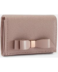 Ted Baker - Bow Flap Mini Leather Purse - Lyst