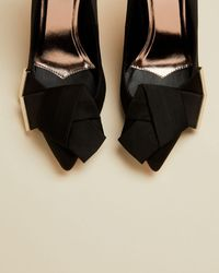 Ted Baker Satin Bow Detail Courts - Black
