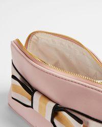 Ted Baker Branded Webbing Neoprene Makeup Bag - Pink