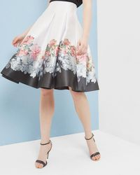 Ted Baker Painted Posie Pleated Skirt - Pink