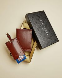 Ted Baker Leather Luggage Tag And Passport Holder Gift Set - Multicolore