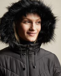 Ted Baker Chevron Quilted Padded Jacket - Black