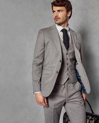 Ted Baker - Skinny Fit Wool Waistcoat - Lyst