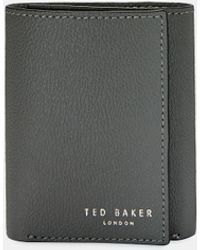 Ted Baker Printed Leather Trifold Wallet - Gray