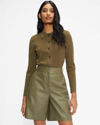 Ted Baker Collared Cardigan - Green