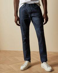 Ted Baker Tapered Denim Jeans - Blue