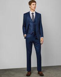 Ted Baker Debonair Slim Wool Waistcoat - Blue