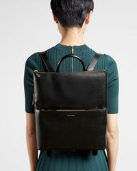 Ted Baker Saffiano Thin Backpack - Black
