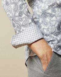 Ted Baker Hemd Aus Baumwolle Mit Paisley-print - Weiß