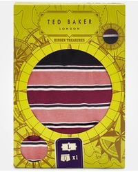 Ted Baker - Striped Cotton Boxer Shorts - Lyst