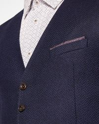 d5435a466 Lyst - Ted Baker Tightlines Wool Vest in Blue for Men