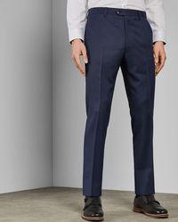 Ted Baker - Debonair Textured Wool Suit Trousers - Lyst