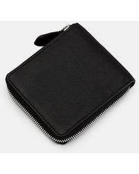 Ted Baker Leather Zip-up Wallet - Black