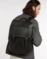Ted Baker Leather Backpack - Black