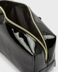 Ted Baker Vinyl Bow Makeup Bag - Black