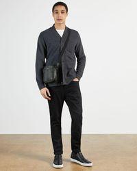 Ted Baker Mini Leather Crossbody Bag - Black