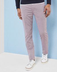 Ted Baker - Budwise Slim Fit Textured Trousers - Lyst