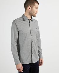 Ted Baker All Over Floral Printed Shirt - Gray