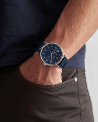 Ted Baker Reloj Correa Piel Efecto Cocodrilo - Azul