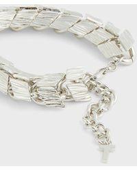 Ted Baker Bracelet Chaîne Chevrons - Métallisé