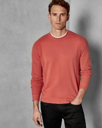 Ted Baker Textured Crew Neck Jumper - Multicolour