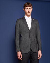 aff1e5477deab2 Ted Baker Men s Semi Plain Wool Blazer in Blue for Men - Lyst