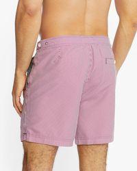 Ted Baker Formal Stripe Swim Shorts - Purple
