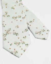 Ted Baker Corbata De Seda Estampado Floral - Multicolor
