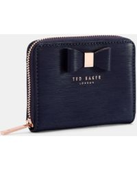 Ted Baker - Textured Leather Purse - Lyst